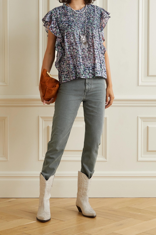 Isabel Marant Étoile Layona ruffled floral-print cotton-voile blouse