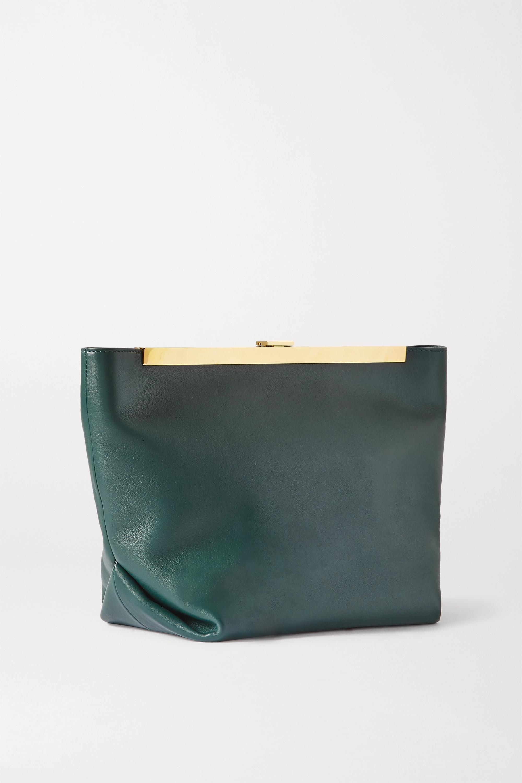 Khaite Augusta Envelope Pleat leather shoulder bag