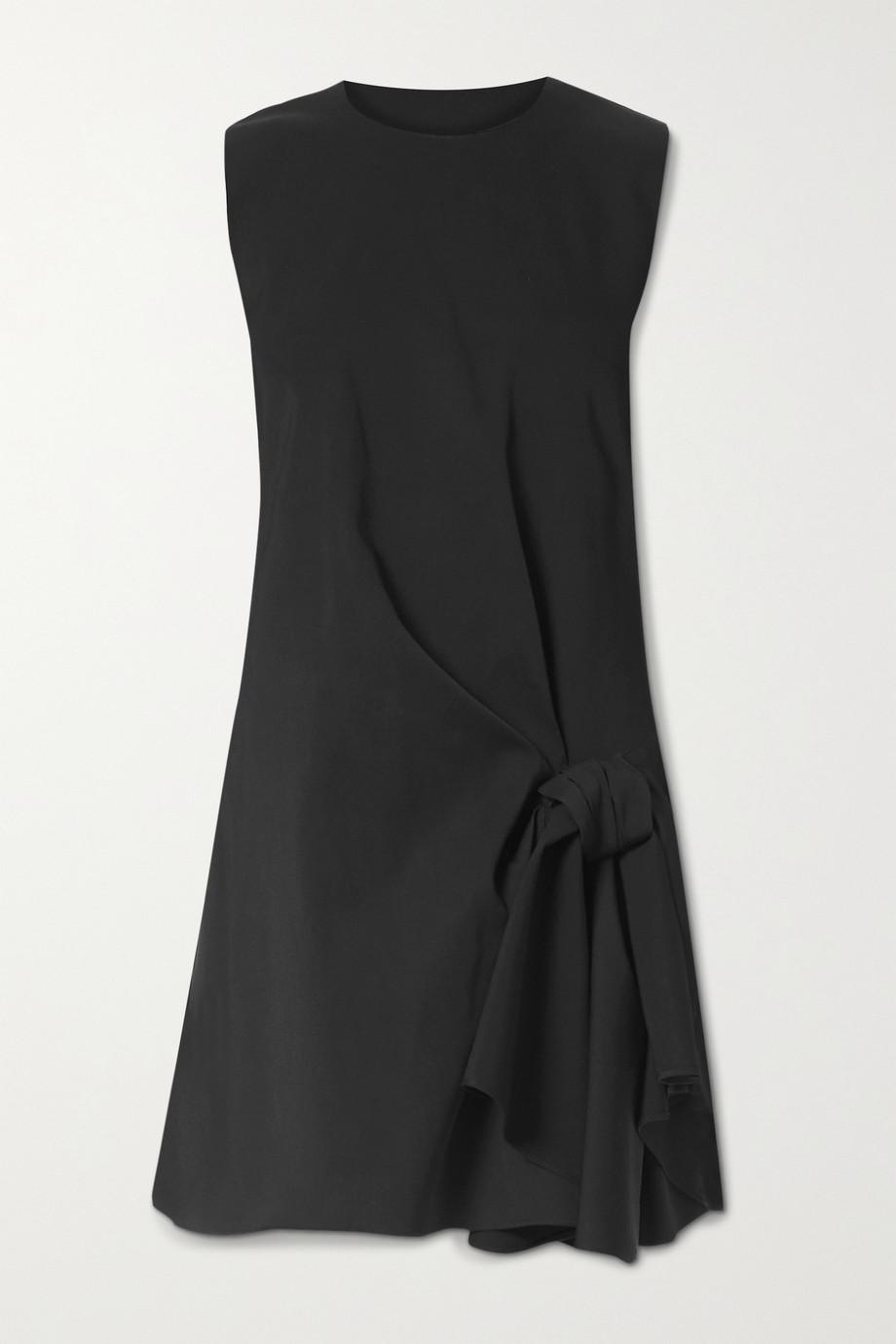 Carolina Herrera Draped wool-blend mini dress