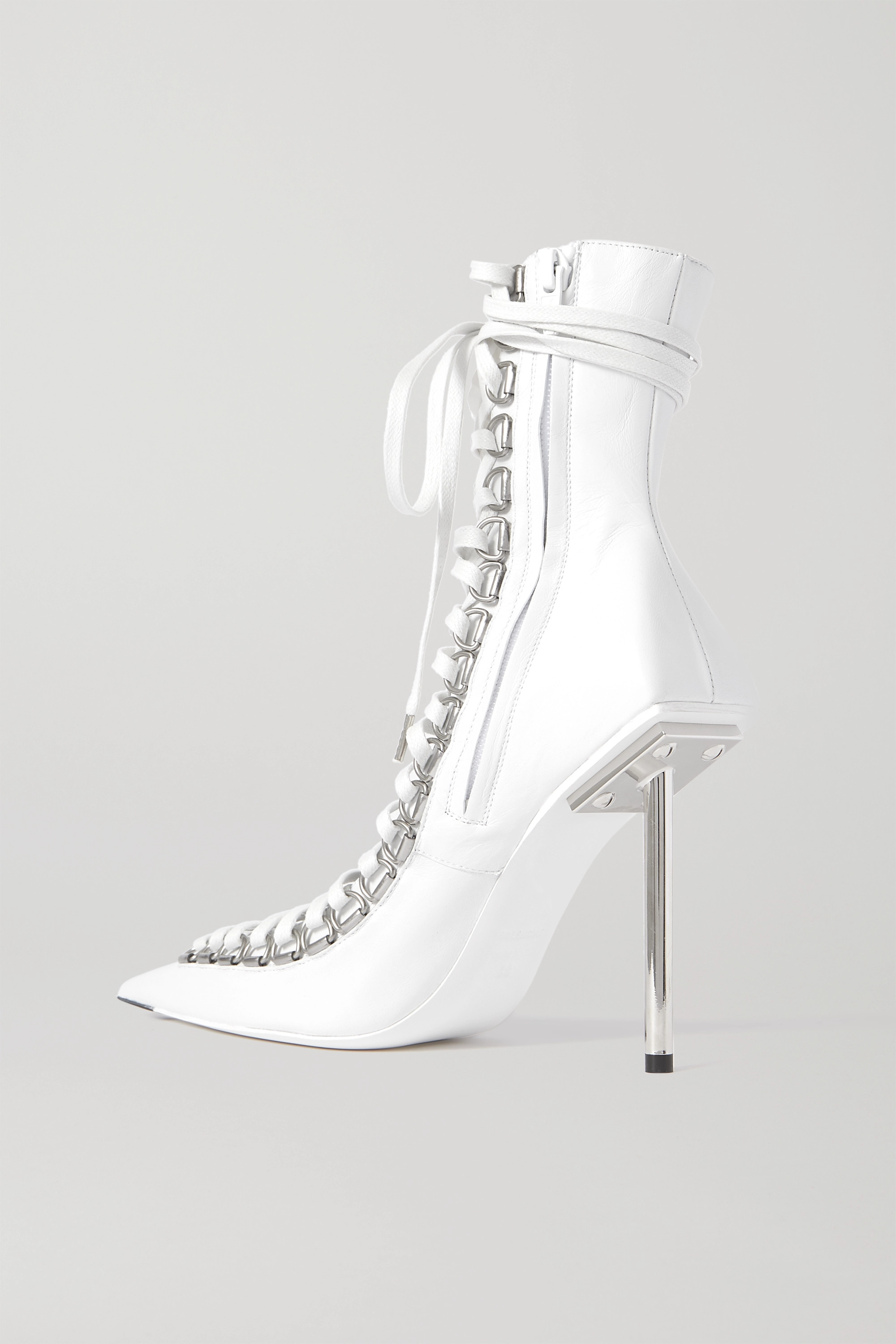 Balenciaga Corset lace-up leather ankle boots