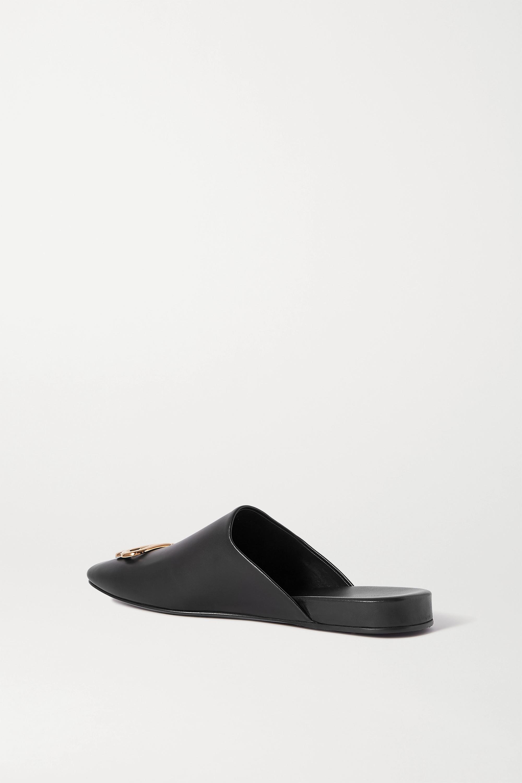 Balenciaga Cosy BB logo-embellished leather slippers