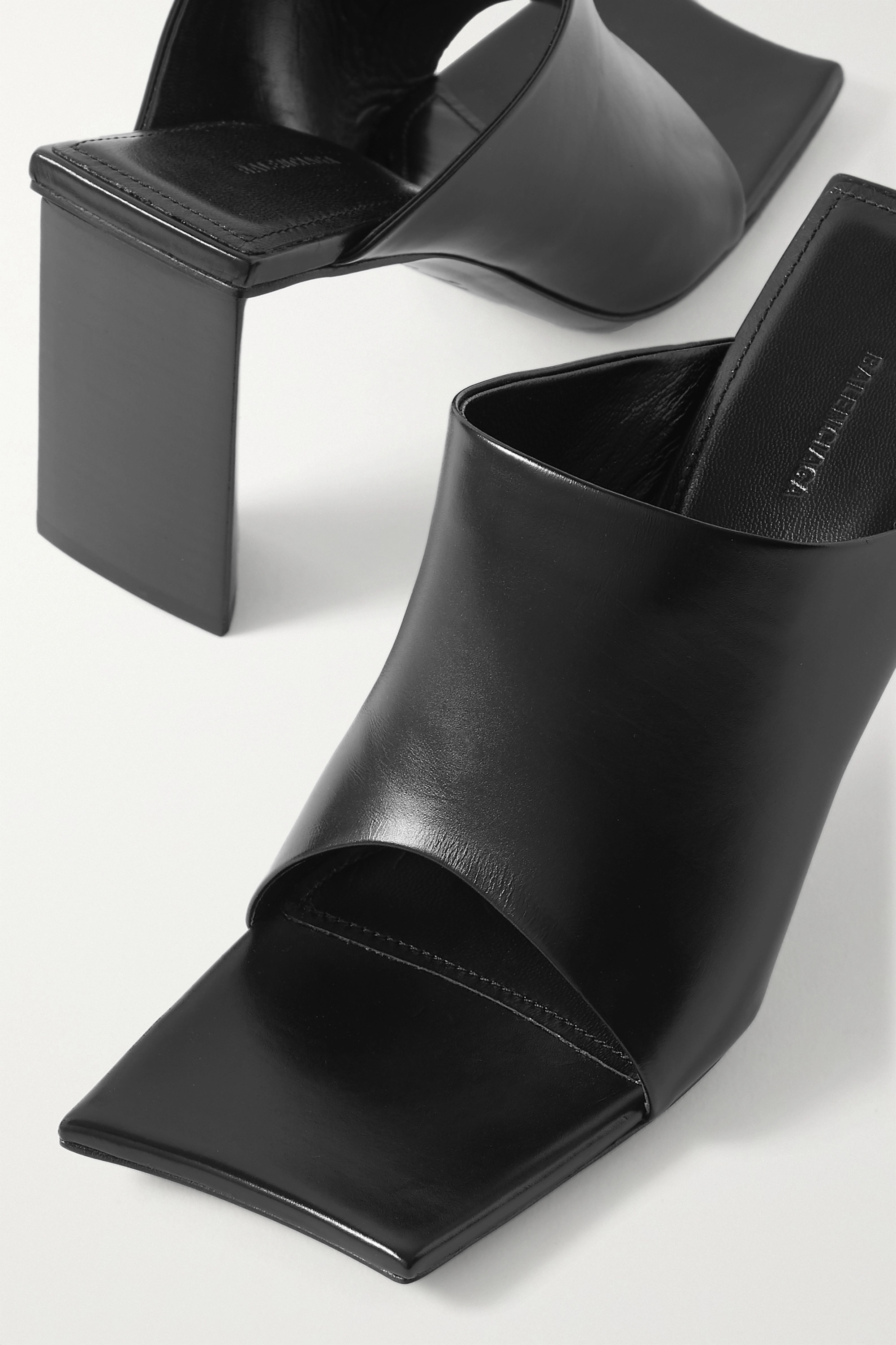 Balenciaga Moon leather mules