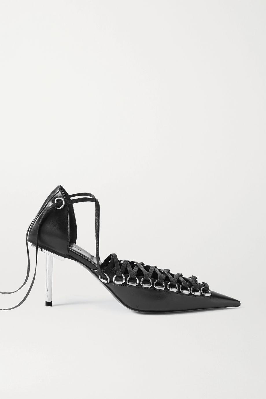 Balenciaga Corset lace-up leather pumps