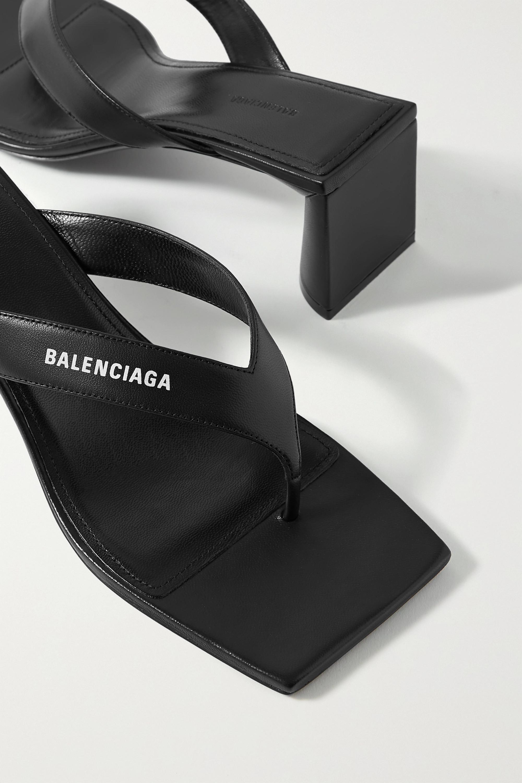 Balenciaga Logo-print leather sandals