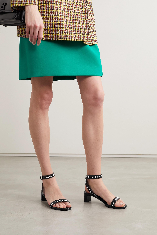 Balenciaga Sandales en cuir à logo