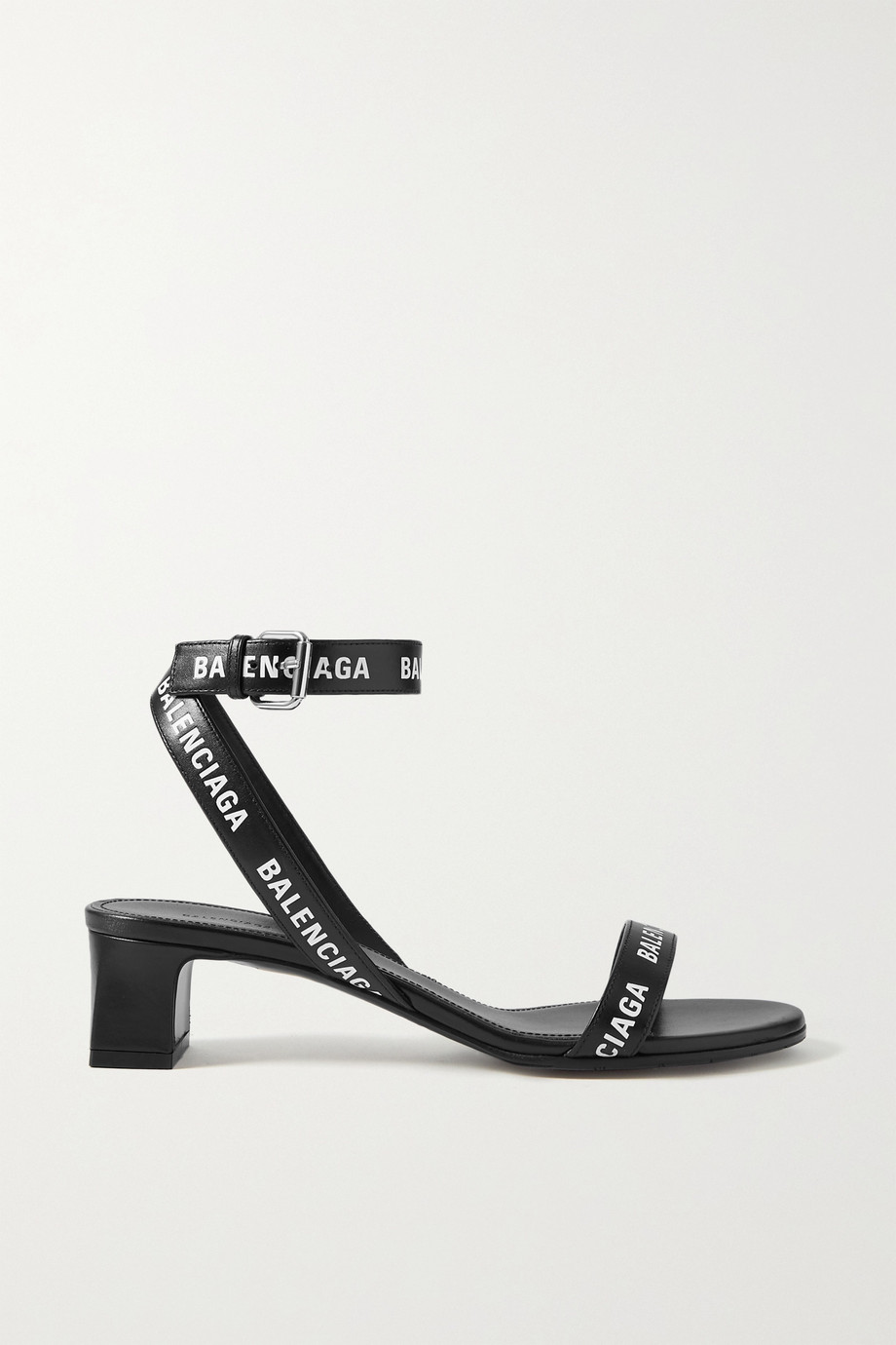 Balenciaga Logo-print leather sandals