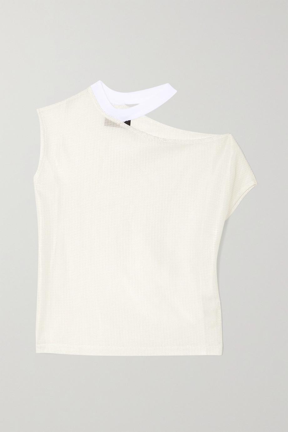 RtA Axel cutout ribbed-knit T-shirt