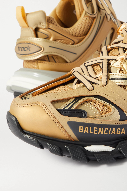 Balenciaga Baskets en caoutchouc et en résille métallisés à logo Track
