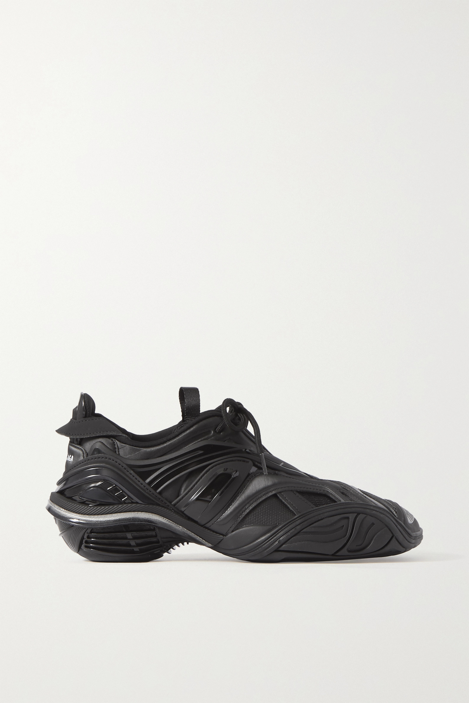 Black Tyrex logo-print rubber, mesh and