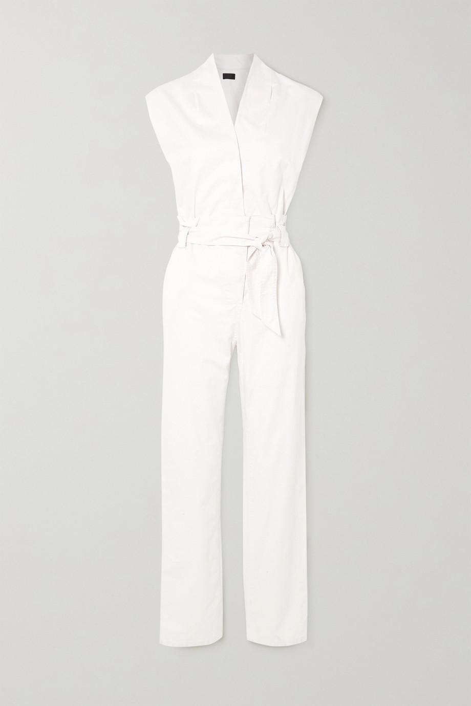 RtA Cynthia wrap-effect cotton-twill jumpsuit