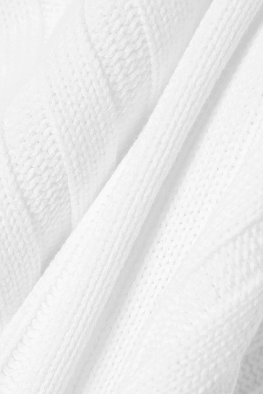 RtA Abigail frayed ribbed cotton sweater