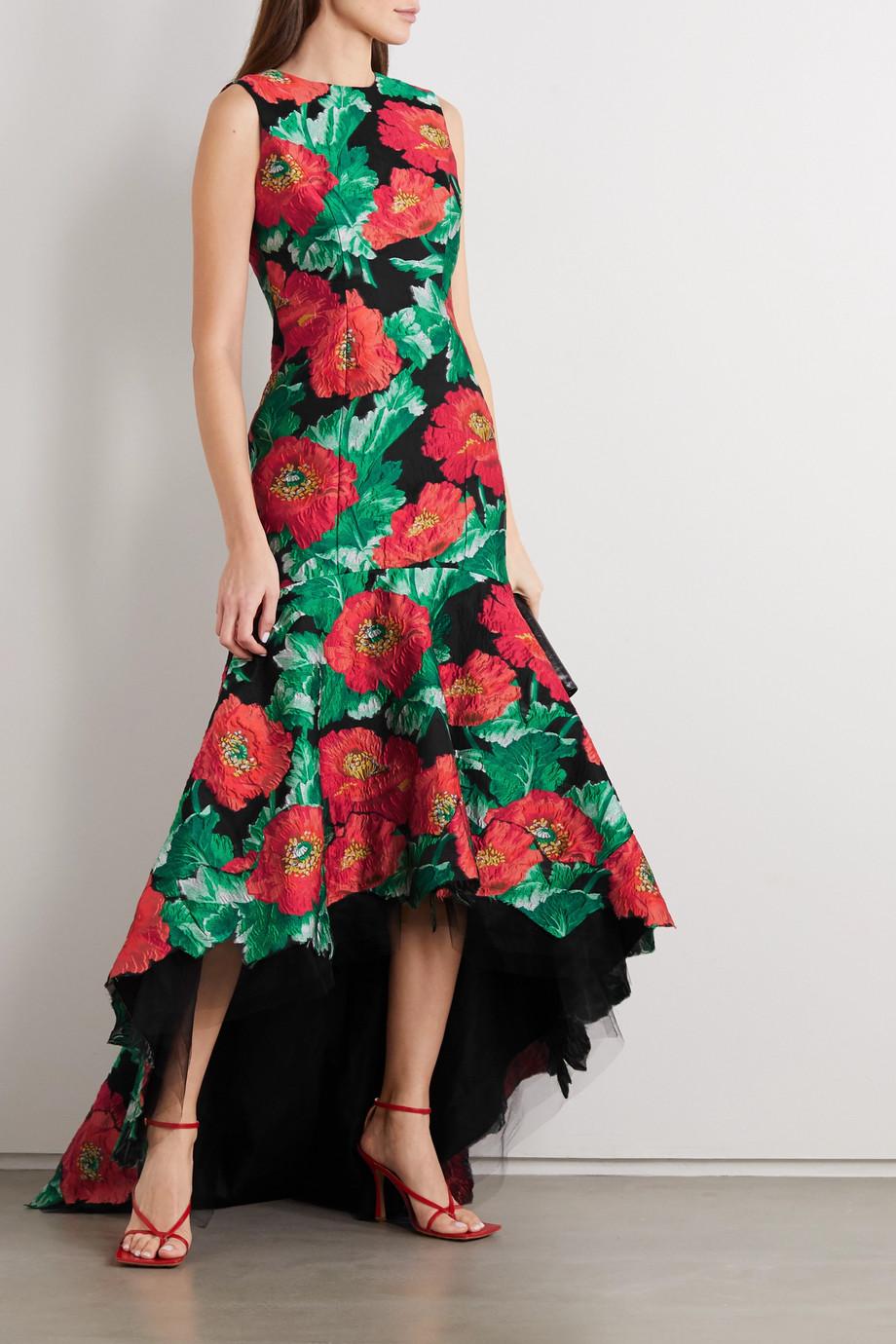 Oscar de la Renta Floral brocade gown