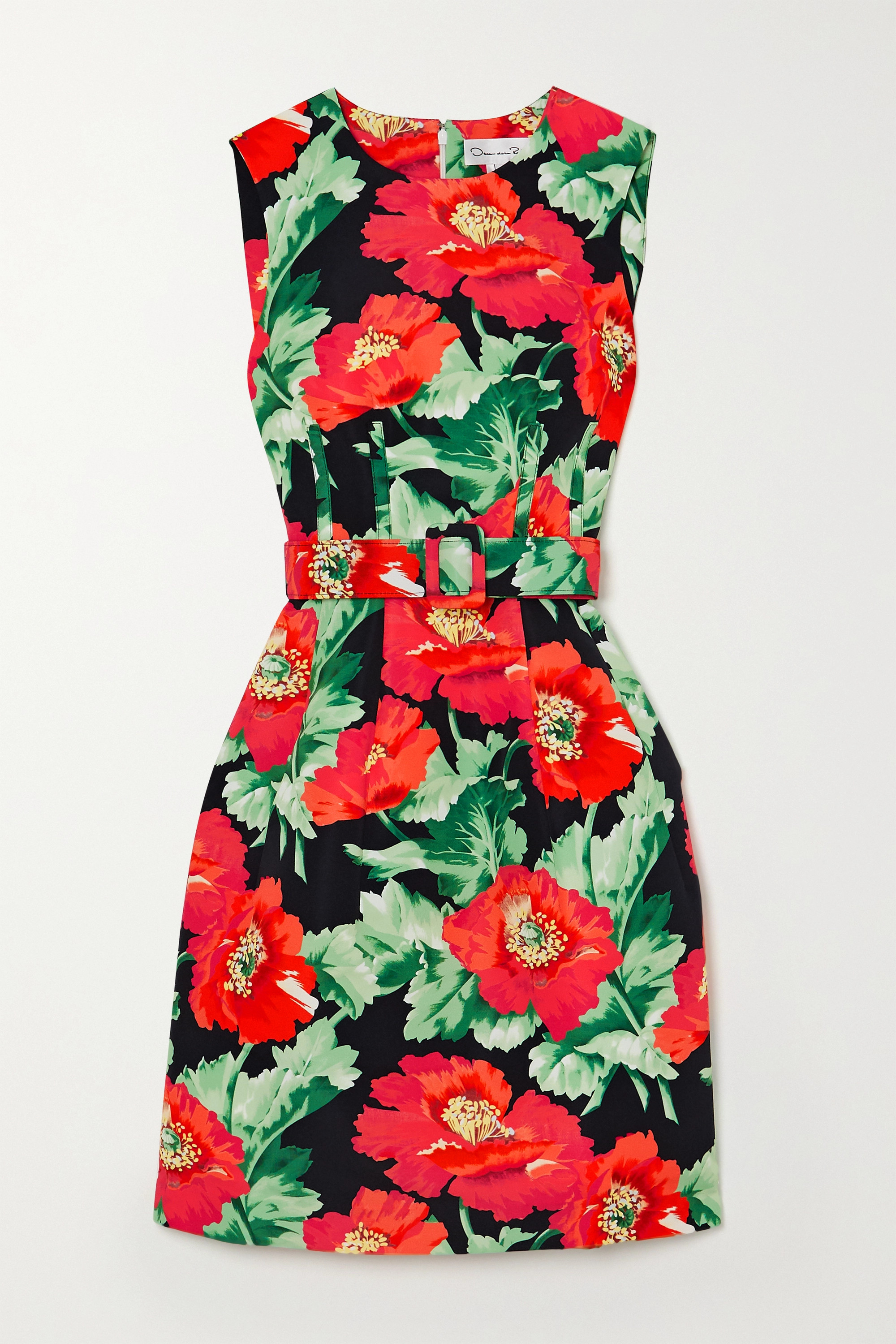 Fame Strap Garment Leather Floral Red