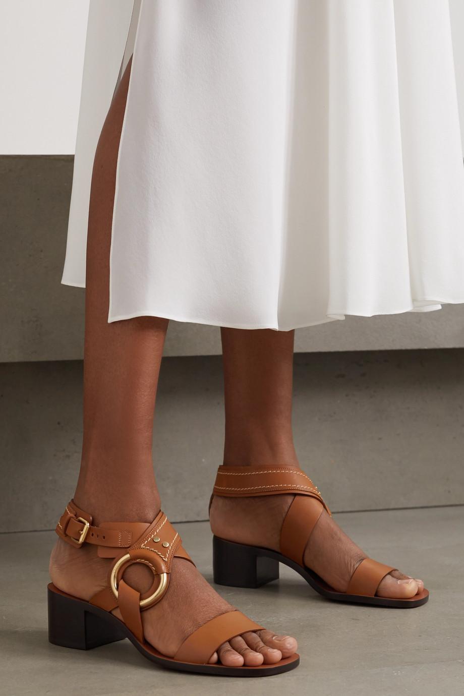 Chloé Demi verzierte Sandalen aus Leder