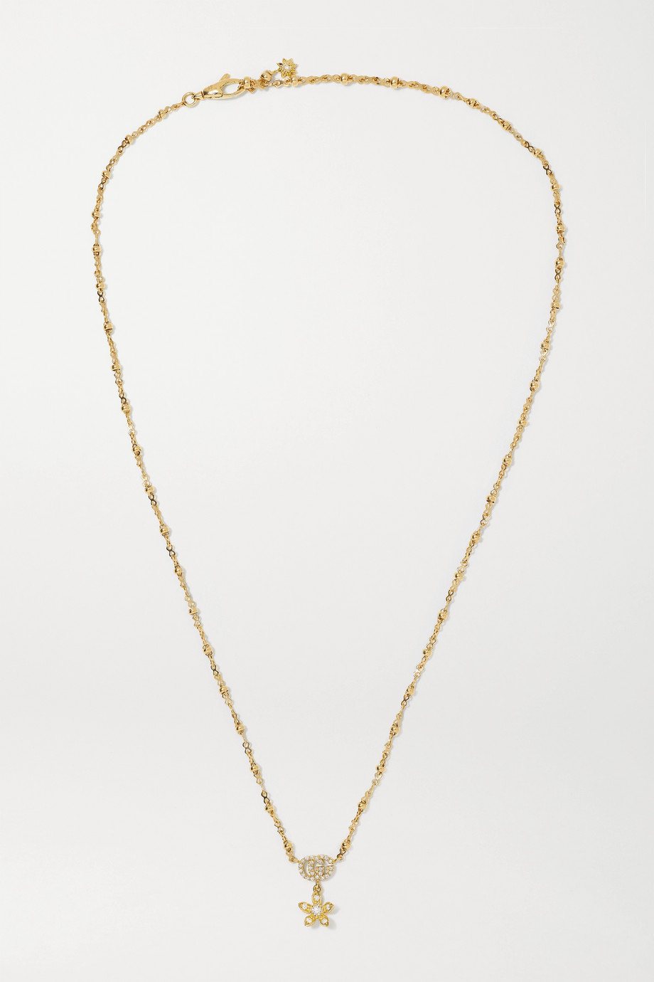 Gucci Flora 18-karat gold diamond necklace