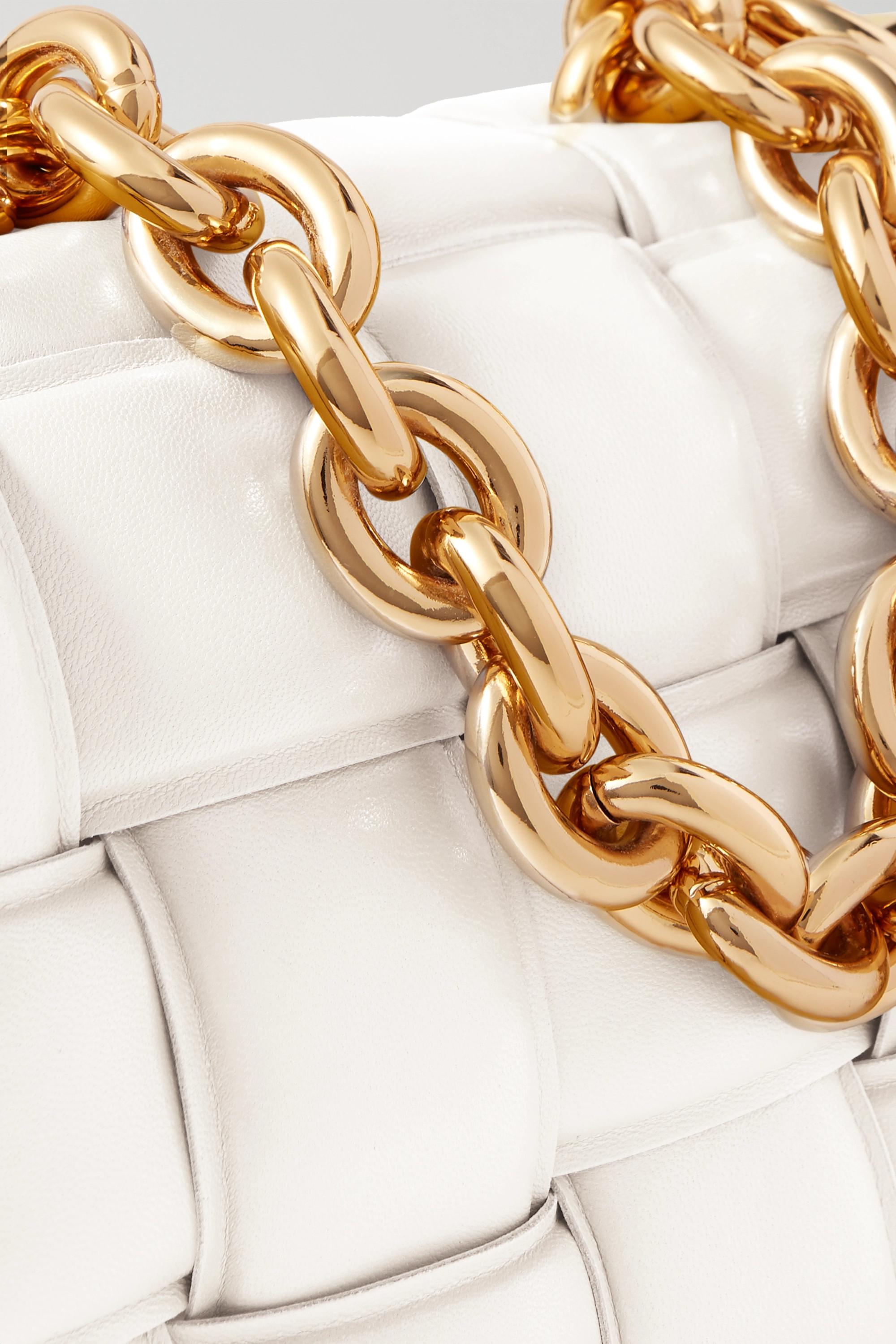 Bottega Veneta Sac porté épaule en cuir matelassé intrecciato à chaîne Cassette