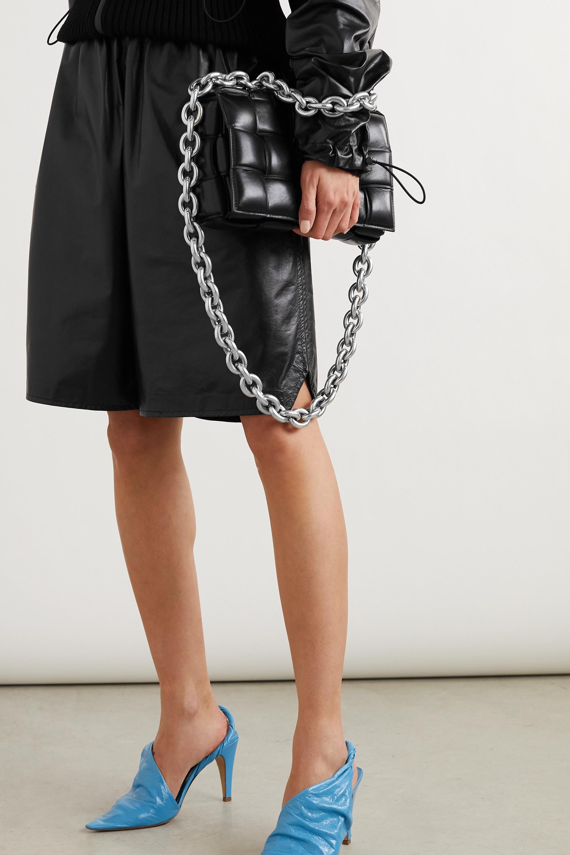 Bottega Veneta Sac porté épaule en cuir intrecciato matelassé à chaîne Cassette