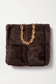 Bottega Veneta Double large intrecciato shearling tote