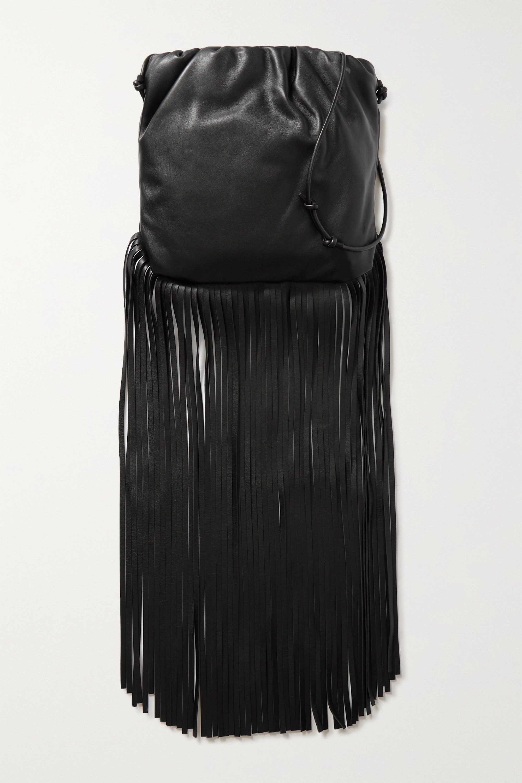 Bottega Veneta Fringe gathered leather shoulder bag