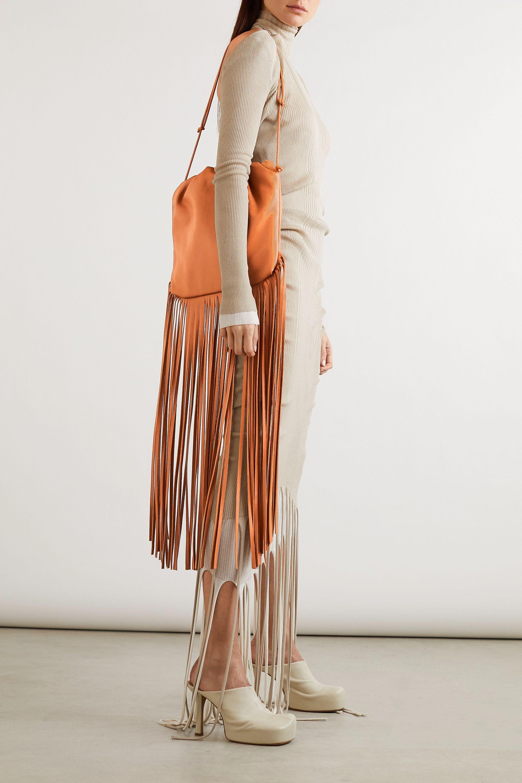 Bottega Veneta The Fringe Pouch gathered leather shoulder bag