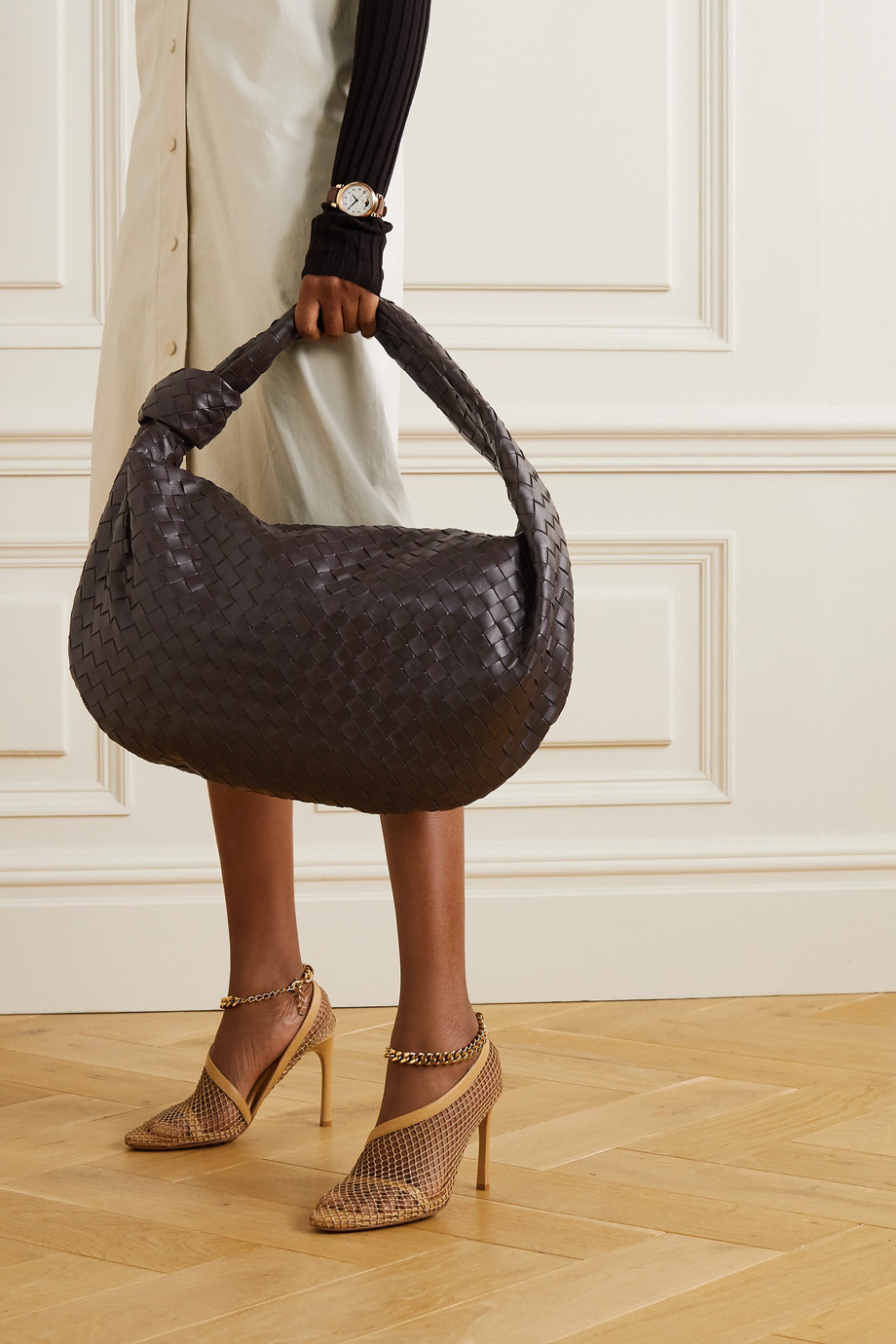 Bottega Veneta Jodie medium knotted intrecciato leather tote