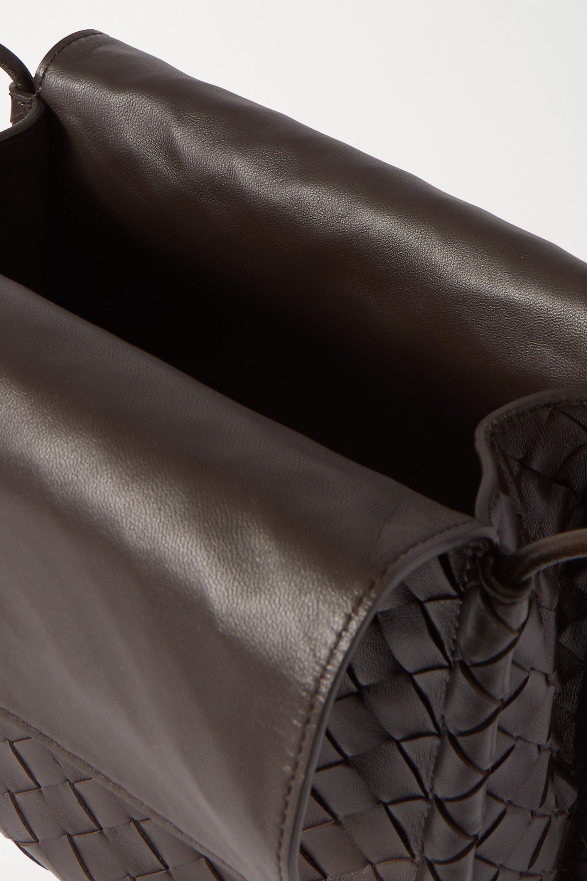 Bottega Veneta Fold intrecciato leather shoulder bag