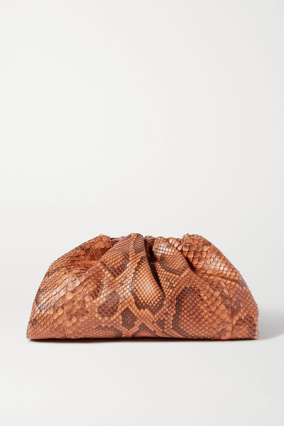 Bottega Veneta Pochette en python à fronces The Pouch Large