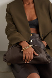 Bottega Veneta The Pouch large gathered leather clutch
