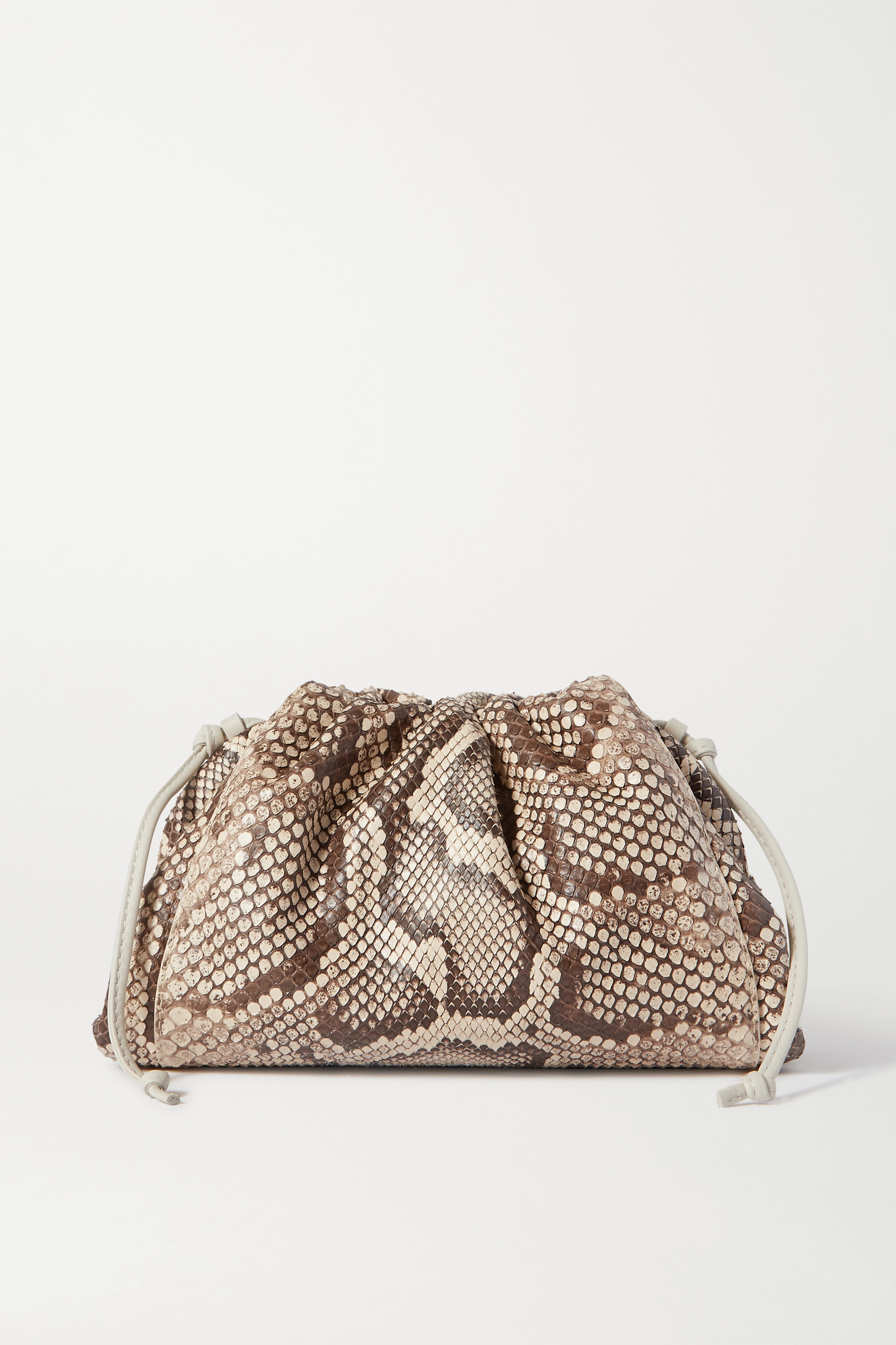 Bottega Veneta Pochette en python à finitions en cuir The Pouch Small