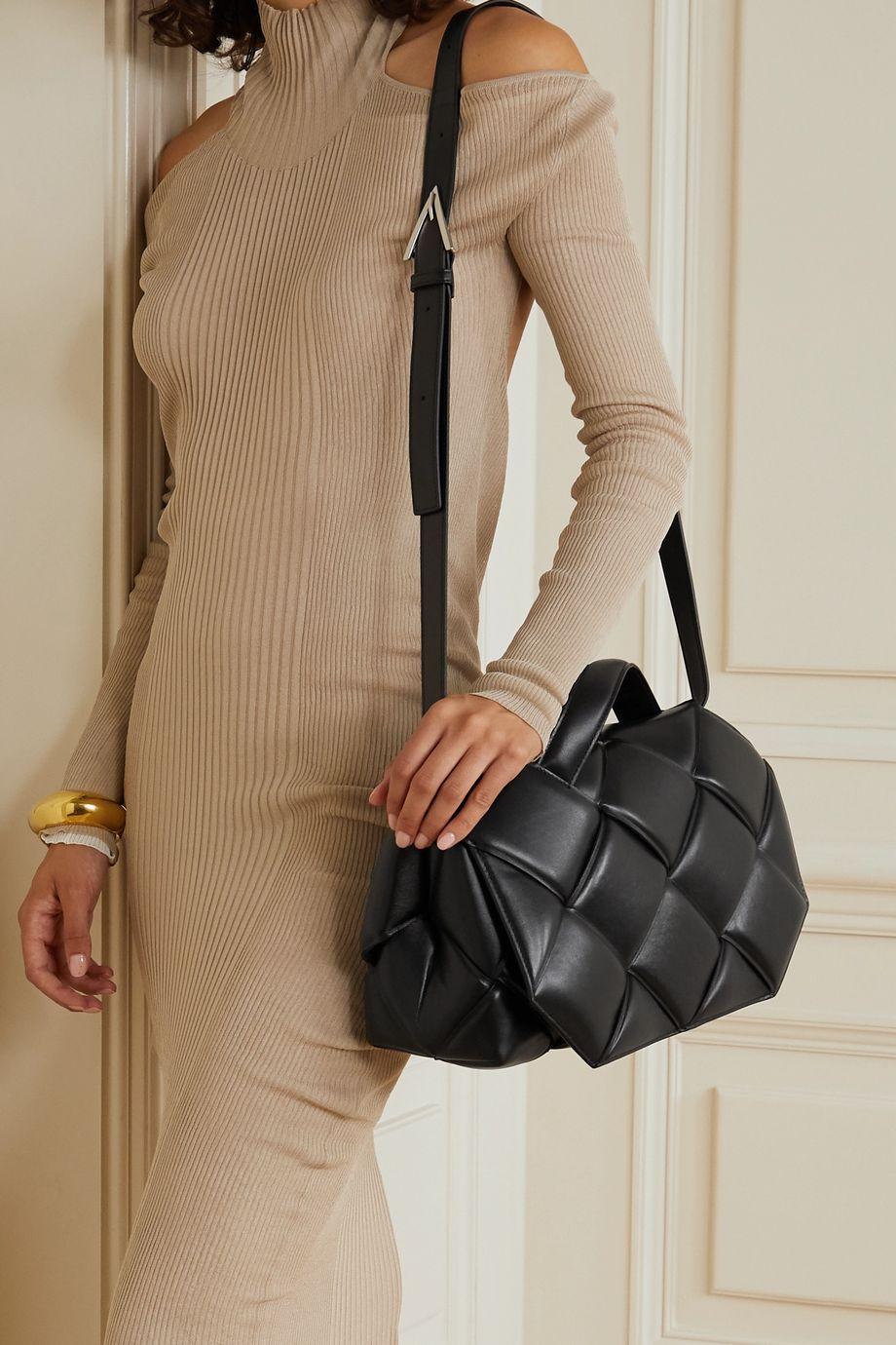 Bottega Veneta Sac porté épaule en cuir intrecciato rembourré