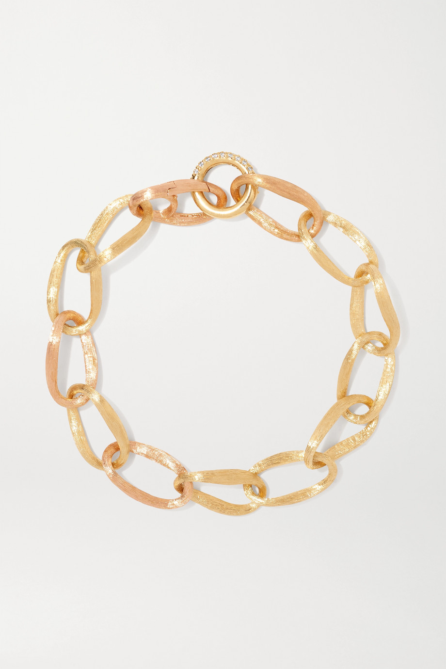 OLE LYNGGAARD COPENHAGEN Love medium 18-karat yellow and rose gold diamond bracelet