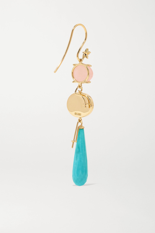 OLE LYNGGAARD COPENHAGEN 18-karat gold multi-stone earring