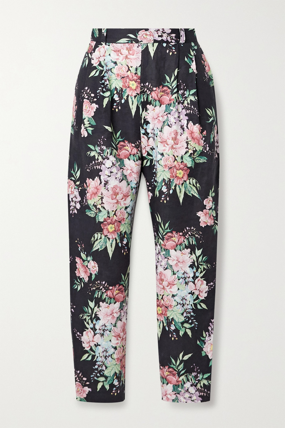 Zimmermann Bellitude floral-print linen tapered pants