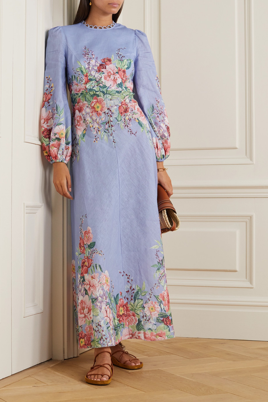 Zimmermann Bellitude floral-print linen maxi dress