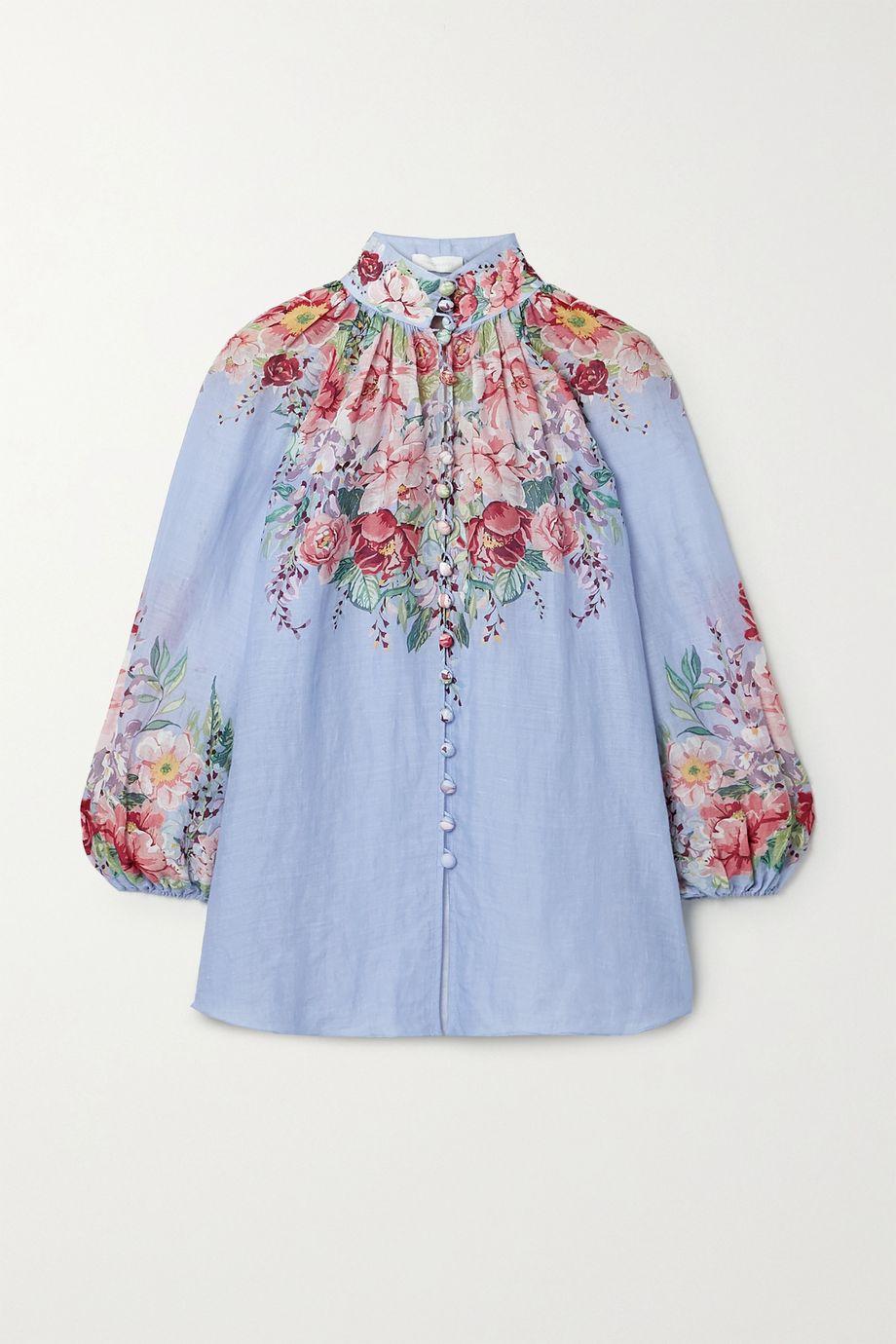 Zimmermann Bellitude floral-print ramie blouse