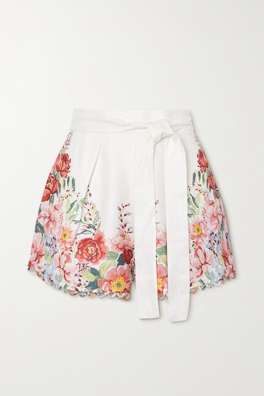 Zimmermann Bellitude 花卉印花亚麻短裤