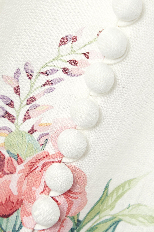 Zimmermann Robe midi bustier en lin à imprimé fleuri Bellitude