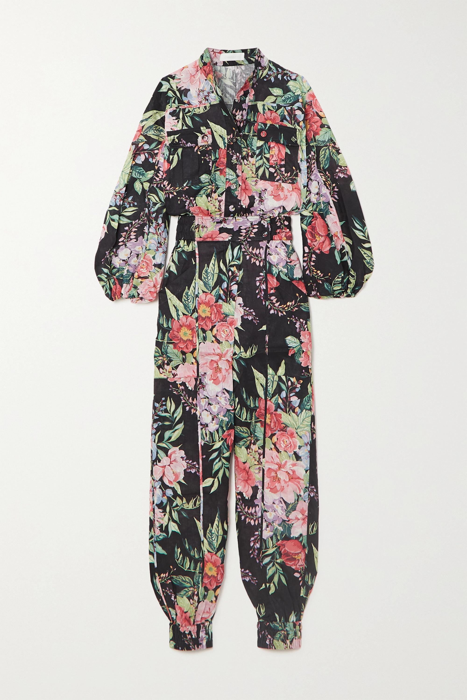 Zimmermann Bellitude floral-print linen jumpsuit
