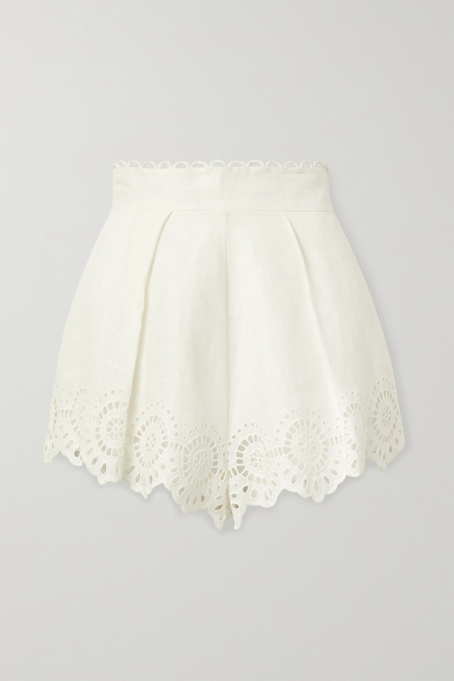 Scalloped Linen Shorts (Similar)