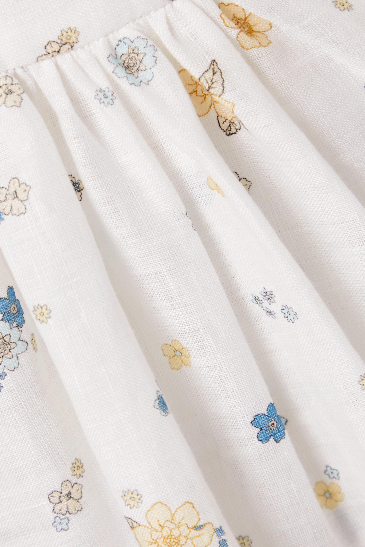 Zimmermann Carnaby Minikleid aus Leinen mit Blumenprint