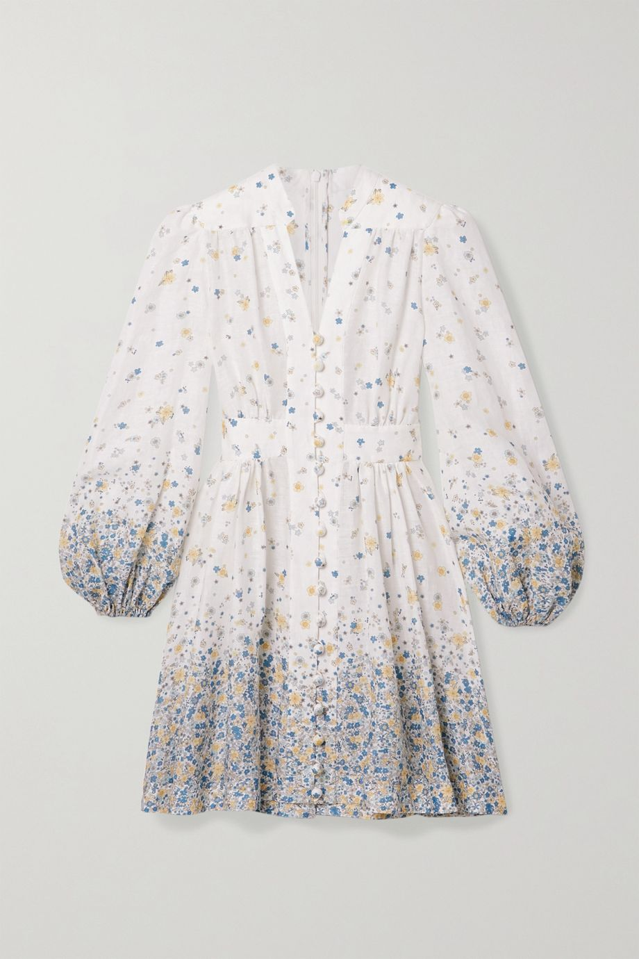 Zimmermann Carnaby floral-print linen mini dress