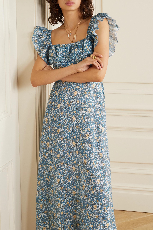 Zimmermann Carnaby ruffled floral-print linen maxi dress