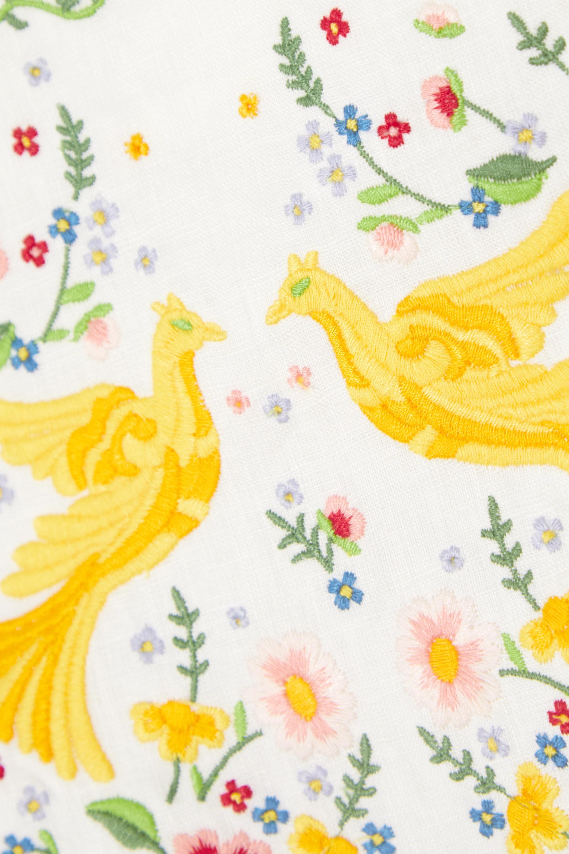 Zimmermann Carnaby embroidered linen midi dress