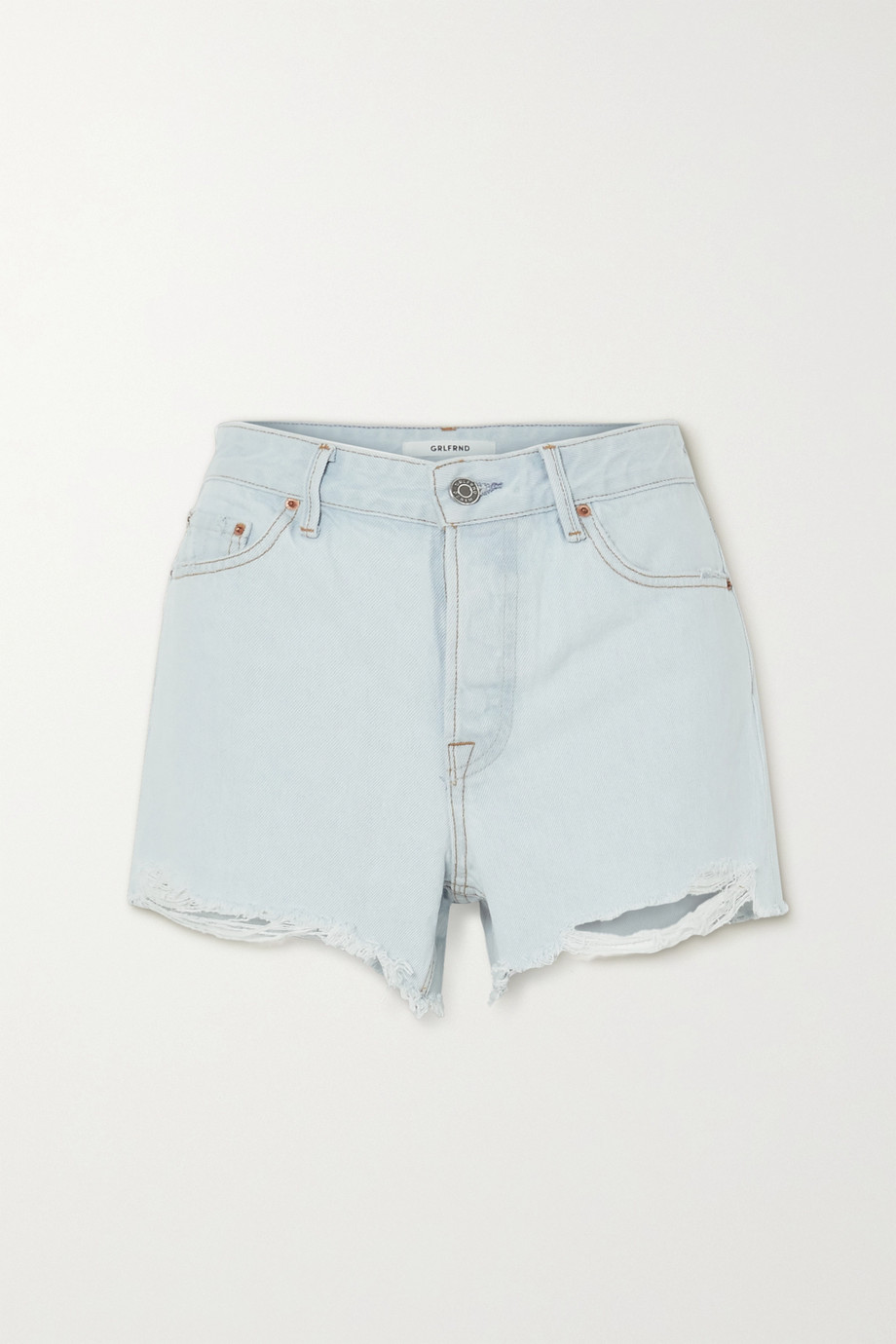 GRLFRND Helena Jeansshorts in Distressed-Optik