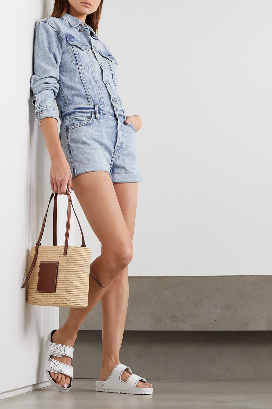 GRLFRND Renata Playsuit aus Denim