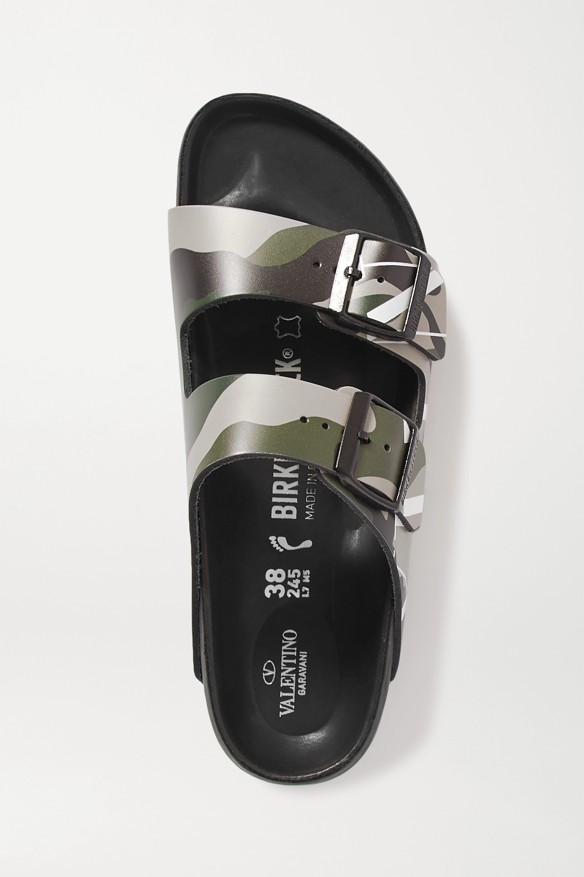 Valentino + Birkenstock Valentino Garavani Arizona printed leather sandals