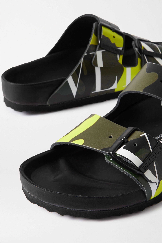 Valentino + Birkenstock Valentino Garavani Arizona printed leather sandals