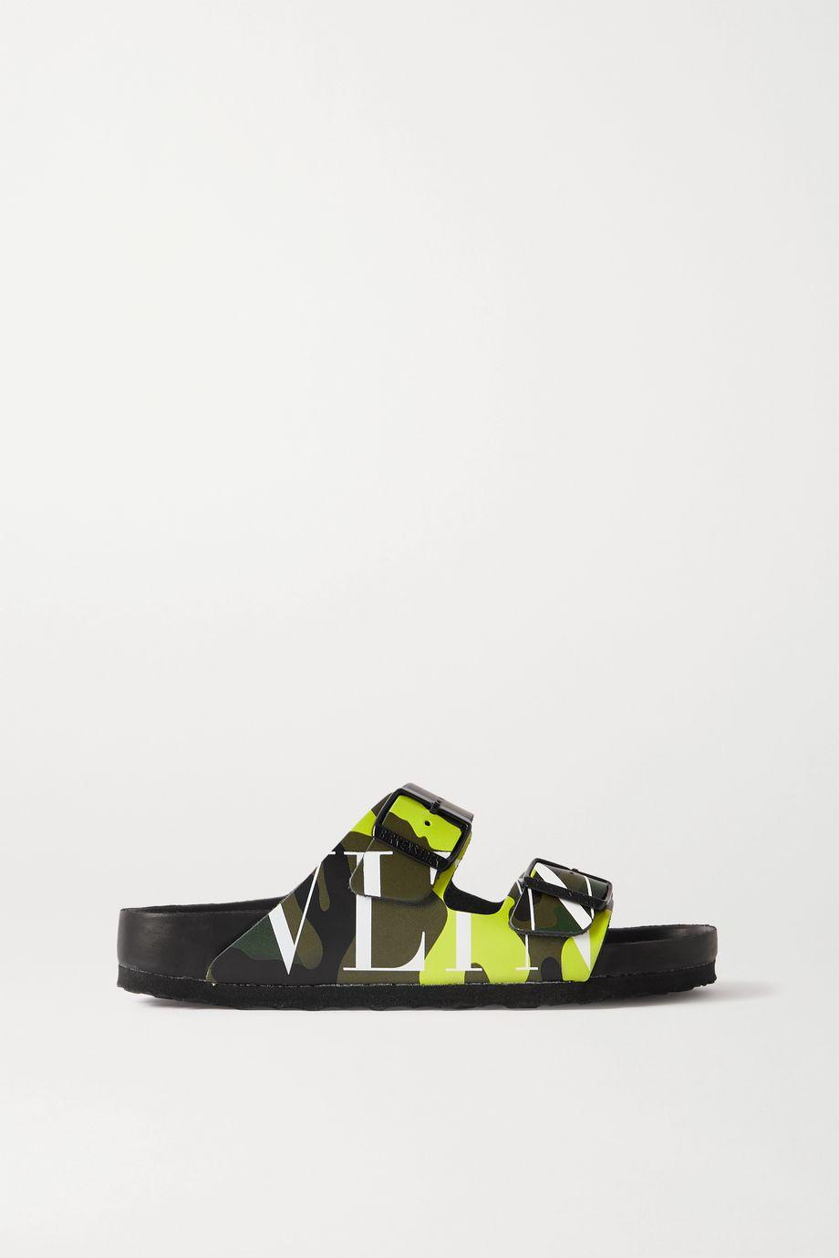 """Valentino Birkenstock x Valentino Garavani """"Arizona"""" 印花皮革凉鞋"""