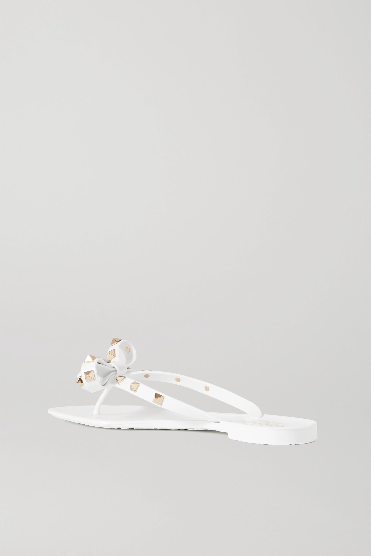 Valentino Valentino Garavani Rockstud rubber flip flops