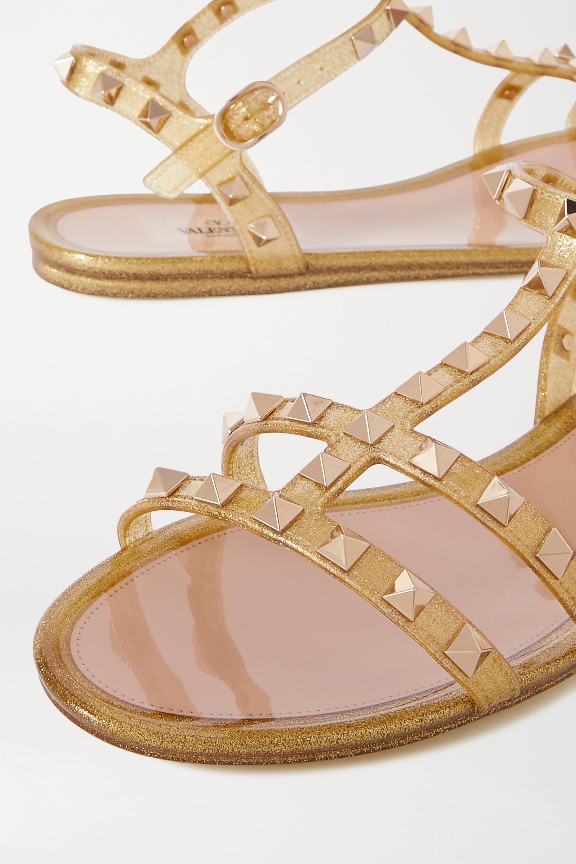 Valentino Valentino Garavani Rockstud glittered rubber sandals